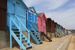 Beach huts (jpotto) Tags: uk beach buildings seaside holidays essex beachhuts sheds naze waltononthenaze