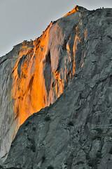 Horsetail Fall (HDR) (kent.c) Tags: california ca sunset usa nature cali canon us waterfall nationalpark elcapitan firefall 2016 horsetailfall kentc canon5dmarkiii kentcphotography