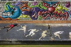 22/52¹ Trapped in an unreal world (- Cajón de sastre -) Tags: selfportrait muro colors wall graffiti creativeselfportrait catchycolorsgroup week17theme 52weeksthe2016edition week172016 weekstartingfridayapril222016