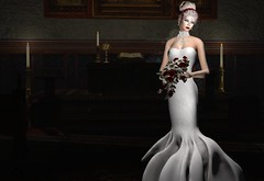 The Bride (Jamee Sandalwood - Miss V SWEDEN 2015) Tags: flowers wedding red white art church girl fashion female photography bride photo blog photographer 500v20f dress artistic formal blogger sl secondlife virtual pixel blonde glam blogged gown bridal couture envogue artphotography 1000v40f slfashion fashionartphotography