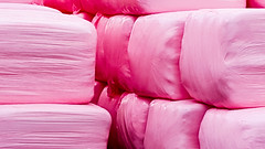 Pink Hay (alanrharris53) Tags: pink farmers farm cancer research hay bales jamies