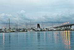 Stuart Nigt (Chris S Thorpe) Tags: bridge evening harbor dock florida stuart waterway