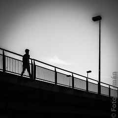 Day 178: Walking silhouette (foto-german) Tags: blackwhite streetphotography backlighting