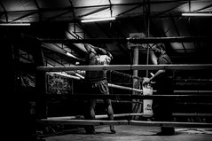 The very nervous of first game started fighting by using profesional skills. Chiangmai Muaythai Championship Competition. (SUNA_PHOTOGRAPHY) Tags: blackandwhite bw sports monochrome thailand photojournalism chiangmai muaythai