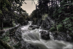 Gotta Get To The Sea (Rob Hanson Photography) Tags: autumn fall river waterfall stream flood newhampshire whitemountains nh nationalforest wmnf deluge engorged glenellisfalls glenellis robhansonphotography glenellisgorge gottagettothesea