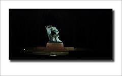 The Chopin statue at the Royal Baths park in Warsaw (andy_pl) Tags: park statue night royal poland baths warsaw chopin