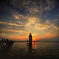 The day is beginning (rinogas) Tags: italy cloud lighthouse sunrise hdr veneto friuliveneziagiulia lignanosabbiadoro vertorama rinogas
