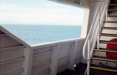 Endless Ocean (begot of nothing but vain fantasy) Tags: sea window water ferry stairs boat ship framing