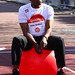 Kris Akabusi Sainsbury's Sport Relief Mile 2012 - London