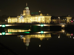 The Custom House (Scouse Smurf) Tags: ireland light dublin house reflection night liffey custom flickrchallengegroup