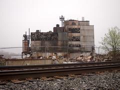 deconstruction (elj4176) Tags: railroad ohio tracks olympus mansfield westinghouse ep3 darktable