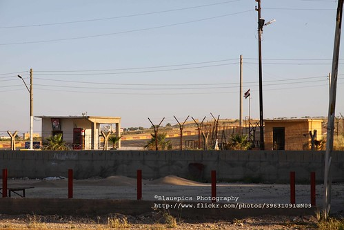Karkamış, border to Syria with barbed wire