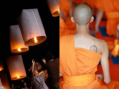 lantern festival - thailand (Emmanuel Catteau photography) Tags: sky tourism beauty festival night dark thailand temple holidays asia photographer buddhist religion north reporter ceremony monk traveller national journey planet conde leisure lonely lantern tradition chiang geo rai pleasure geographic chang nast catteau wwwemmanuelcatteaucom