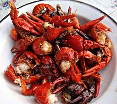 Crustaceans for dinner (CameliaTWU) Tags: dinner plate romania tablecloth crustacean bedeciu cookedcrustaceans
