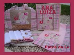 Conjunto Ana Luiza (Patch da Lu) Tags: fraldinhadeboca saquinhomaternidade bolsaursinha mantaursinha kitbabyursinha organizadormaternidade