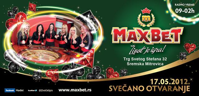 MaxBet sportska kladionica u Sremskoj Mitrovici - pozivnica