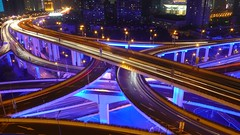 Shanghai - The Intersection (cnmark) Tags: china road blue light night geotagged noche highway shanghai traffic expo nacht district trails an led trail yan noite intersection  elevated  nuit notte 2010 nachtaufnahme huangpu  yanan nanbei allrightsreserved     oltusfotos mygearandme mygearandmepremium mygearandmebronze mygearandmesilver mygearandmegold mygearandmeplatinum mygearandmediamond geo:lat=3122544 geo:lon=121464752