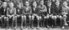 Clogs for school (theirhistory) Tags: school boy shirt child boots tie class kind jacket clogs shorts form knees jas wellies klasse vorm klompen korte hemd binden broek laarzen knieën