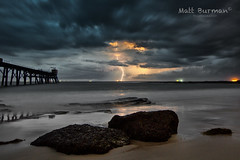 INTENSITY! (matt burman) Tags: longexposure seascape storm landscape australia nsw lightning catherinehillbay mattburman