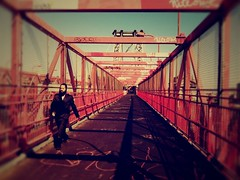 Traversing boroughs (yammay) Tags: bridge shabbat williamsburgbridge niteowl iphone