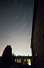 Star trails (Coventry Pollution) (davespilbrow) Tags: trees chimney stars space bricks spinning astronomy nightsky coventry startrails tvaerial darksky sigma1020mm polestar earlsdon nikond90