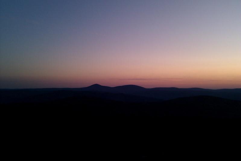 Early light beyond Mount Keen