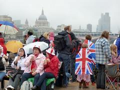 campers on the Southbank (buckaroo kid) Tags: uk london rain with stpauls flags queen campers londonist unionjacks a diamondjubilee gettyjubileesun hrefhttpwwwpixsycomprotected pixsya