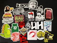 sticky Rick pack (Dirt diggler1) Tags: losangeles stickers soma gn rebs 818 deger gnk n46er agroh graffneed