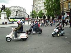Vespa World Days UK 2012 (24) (kenjonbro) Tags: london uk scooter scooterist kenjonbro vespa england fujihs10 trafalgarsquare londonuk westminster charingcross rally sw1 flypast vespaworlddaysuk2012 anniversary meeting troopingthecolour2012 meetup
