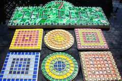 Grouting Day, Mosaic house number 7 & coasters (fiona parkes) Tags: glass plaque gold mosaictiles 7 stainedglass tiles coaster coasters housenumber number7 glasstiles stainedglassmosaic glittertiles