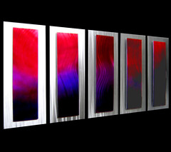 Contemporary Colorful Metal Art (modern-metal-art) Tags: abstractwallart silverartwork modernwalldesign contemporarycolorfulmetalart colorfulartpiece