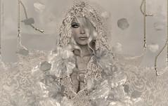 Aye~White (Skip Staheli *11 YEARS SL PHOTOGRAPHY*) Tags: portrait art avatar sl digitalpainting fantasy secondlife dreamy pileup virtualworld skipstaheli