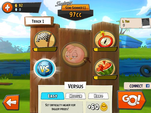 Angry Birds Go! Level Setup: screenshots, UI