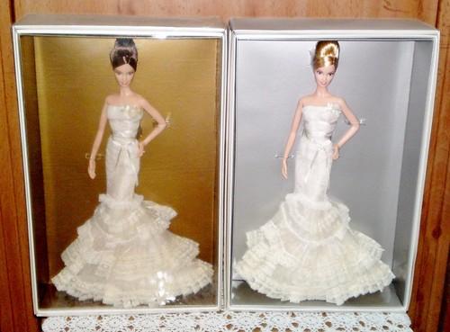 97347ee3af24 2008 Platinum & Gold Label Vera Wang Romanticist Bride Barbie - a ...