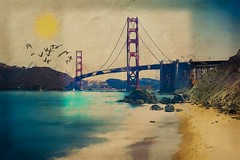 Golden Gate Morning (AjayGoel2011) Tags: world sanfrancisco morning blue sun color texture photomanipulation nikon digitalart explore goldengate creativecommons nikkor decisivemoment ajaygoel flickriver