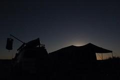 Moonrise behind camp (Melissa Macgill) Tags: camping moon lake moonrise outback sa southaustralia campsite eyre