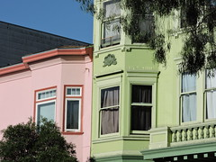Pink & Green San Francisco (8:40am) Tags: sanfrancisco pink green victorianhouse