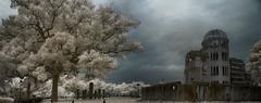 Hiroshima Remembers (zachstern) Tags: tree japan ir remember peace hiroshima infrared abombdome maxmaxcom xnitecanong9