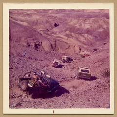 Jeep Off Roading 1970s (charmcityvinyl) Tags: family vintage jeep offroad jeeps kodak snapshot 4wd bronco 1960s 1970s