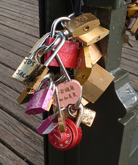 Love padlocks (ComputerHotline) Tags: paris france closeup outdoors vacances ledefrance vacations fra lovelock urbanscene traveldestinations famousplace citybreak nationallandmark internationallandmark scneurbaine planrapproch lovepadlock lieutouristique prisedevueenextrieur cadenasdamour destinationdevoyage hautlieutouristiqueinternational hautlieutouristiquenational escapadeurbaine