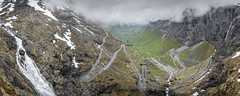 Trollstigen - Norway (Tanguy V) Tags: road panorama cliff mountain green water norway rock turn montagne river waterfall nikon eau riviere vert route valley troll winding neige cascade falaise col rocher roche panoramique trollstigen andalsnes valle norvge sinuous virage sinueux lacets d5100