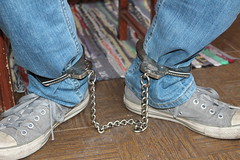 IMG_7807 (bob.laly) Tags: uniform chain jail shackles padlock handcuffs prisoner jumpsuit inmate