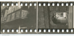 35mm Contact Print Roll In der Heimat (02) (Hans Kerensky) Tags: wood film 35mm paper print found deutschland wooden carved gate with balcony holes photographs german f roll contact agfa heimat sprocket isopan