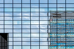 Grid (Maerten Prins) Tags: windows distortion abstract reflection window netherlands lines composition grid rotterdam pattern squares nederland line rotjeknor