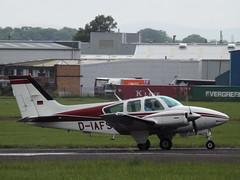 D-IAFS Beech Baron 55 (Aircaft @ Gloucestershire Airport By James) Tags: james airport gloucestershire 55 beech lloyds baron egbj diafs