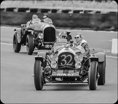 goodwood sprint 2 (Peter Shergold) Tags: old bw cars monochrome canon racing vehicles 7d sprint bentley goodwood motorsport 100400 copyrightpetershergold