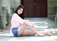 DP1U4144 (c0466art) Tags: blue school light portrait white hot nature girl female canon high nice asia slim pants jean skin outdoor quality gorgeous young figure charming pure  1dx c0466art