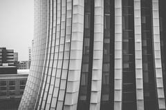 (wickedmartini) Tags: city urban blackandwhite distortion building monochrome lines architecture roc photography 50mm design downtown wideangle monochromatic chasetower rochesterny themetropolitan iamnikon michaeldavignon nikond610