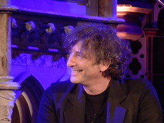 Launching 'Cheap Seats': Neil Gaiman (Diamond Geyser) Tags: show church smile gig onstage writer author neilgaiman unionchapel theviewfromthecheapseatsbooklaunch