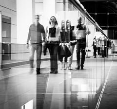 The Ghosts (lassana.dou) Tags: bw abstract france building art glass monochrome architecture modern canon eos hall blackwhite nb strasbourg btiment artistique abstrait peo lieu noireblanc musedartmoderne 100d